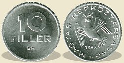 1958-as 10 fillér - (1958 10 fillér)