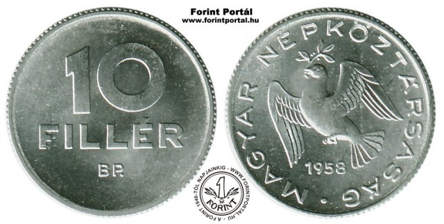 1958-as 10 filléres - (1958 10 fillér)