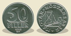 1998-as 50 fillér - (1998 50 fillér)